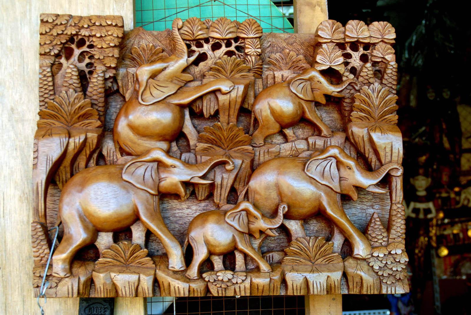 Balinese wood crafts